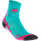 cep Short Running Socks Women pink/turquoise